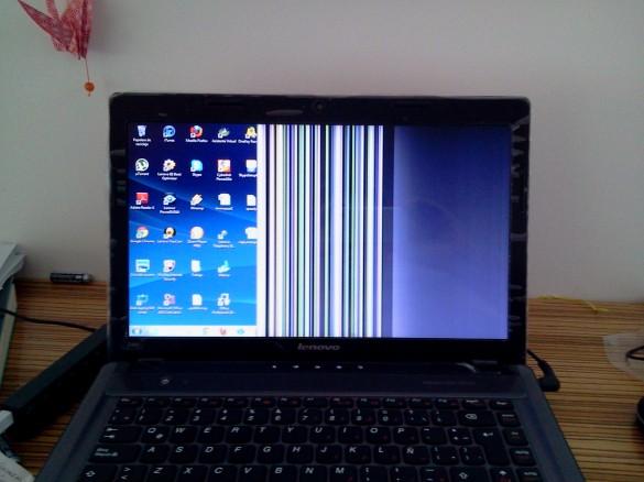 Lenovo IdeaPad Z480 rayas pantalla